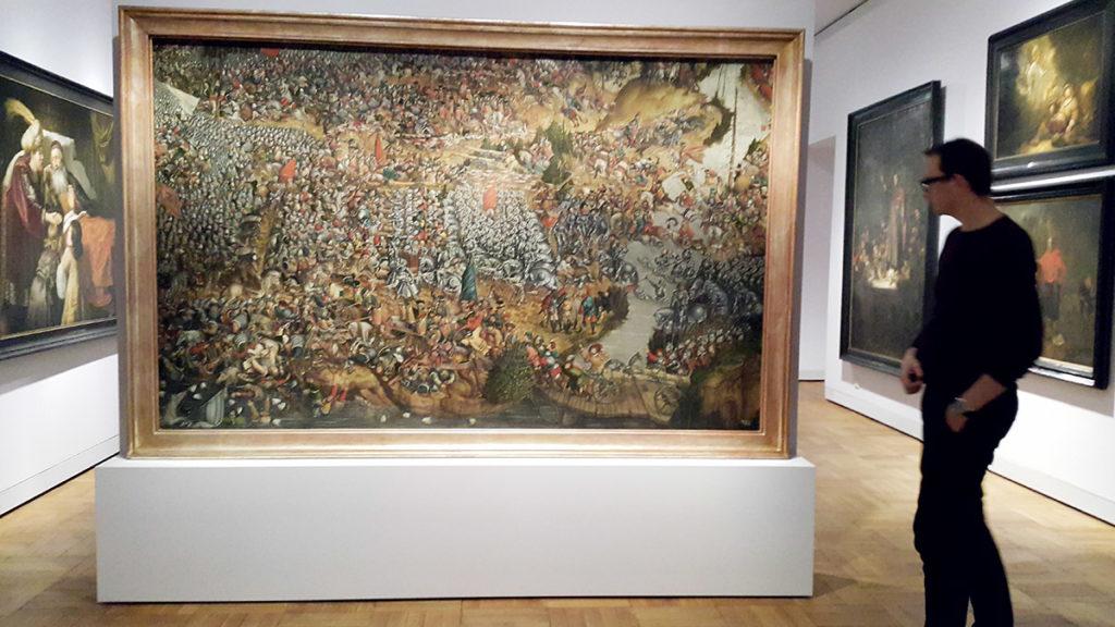 Bitwa pod Orszą - ledwo mieści się na ścianie na której wisi...